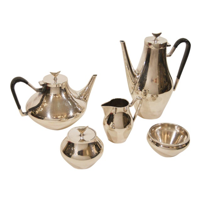 Denmark Complete Tea and Coffee Service by John Prip for Reed & Barton - 5 Pc. Set For Sale
