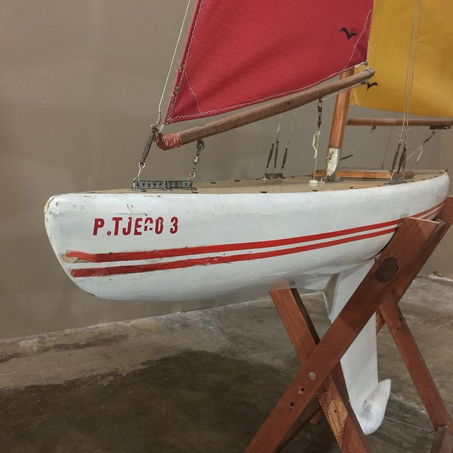 Mid-Century Scale 12 Meter Racing Yacht For Sale - Image 9 of 11