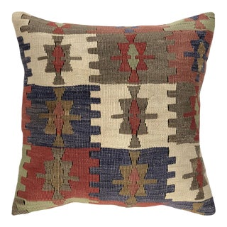 """Up-Cycled Vintage Kilim Pillow 