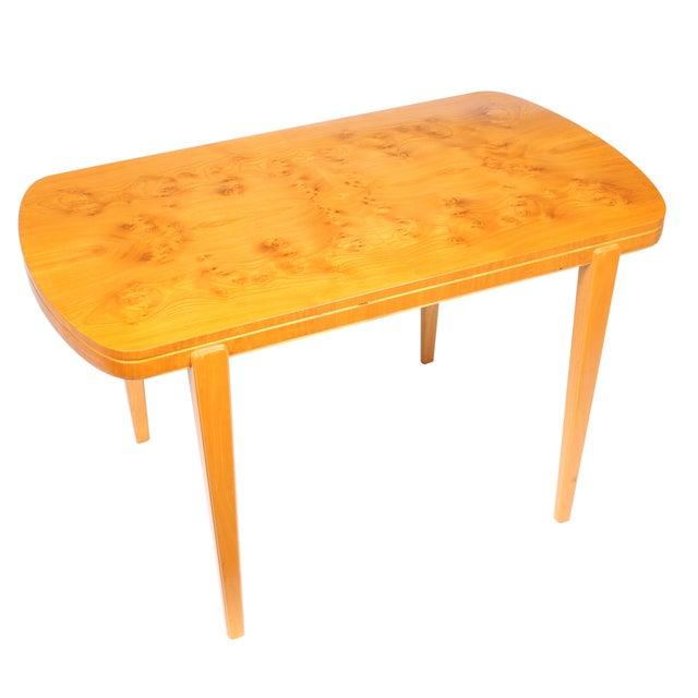 Swedish Art Deco Ash Burl Table - Image 2 of 4