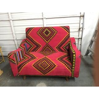 Handmade Marghoum Kilim Woven Sofa From Tunisia Preview