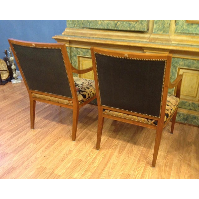 Pair of Italian Neoclassic Armchairs For Sale In West Palm - Image 6 of 13