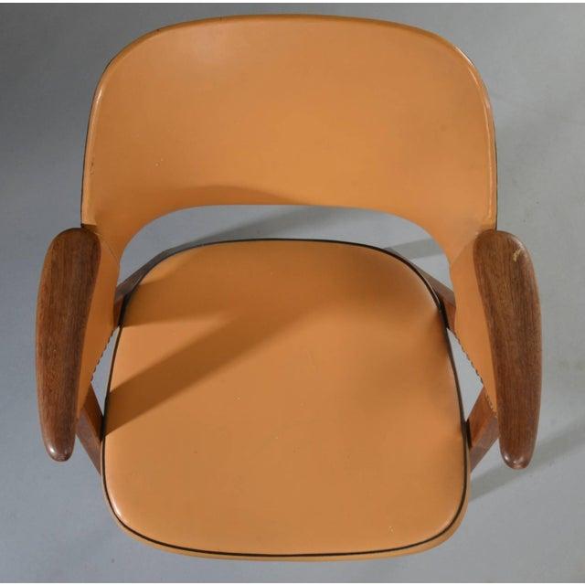 Set of Four Danish Modern Midcentury Teak Armchairs For Sale In Boston - Image 6 of 8