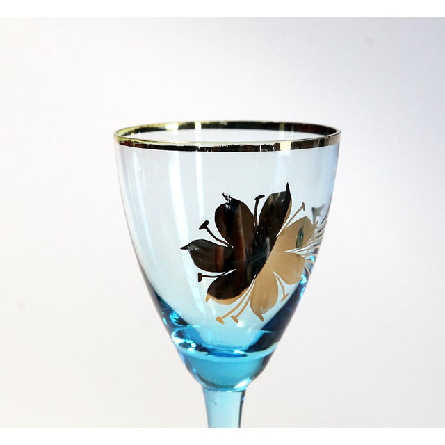 Blue Carafe With Glasses - Set of 9 - Image 5 of 6