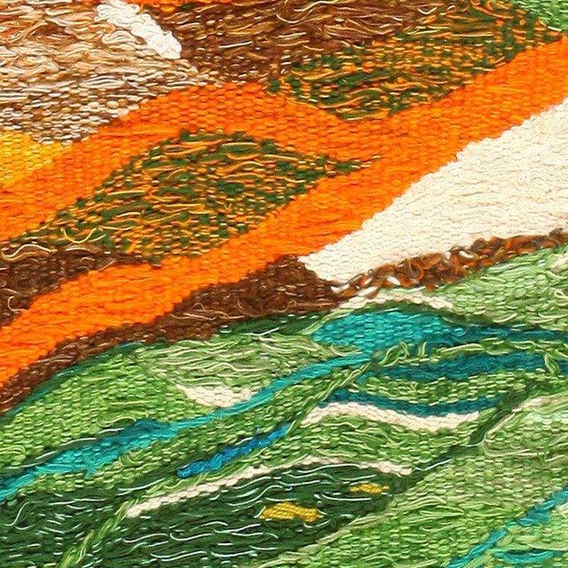 Scandinavian Landscape Tapestry Rug by Christina Knall - 3′ 10″ × 5′ For Sale - Image 4 of 8