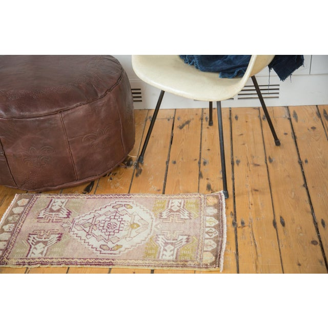 Mauve and Tan Vintage Oushak Rug - 1′5″ × 2′8″ - Image 3 of 6