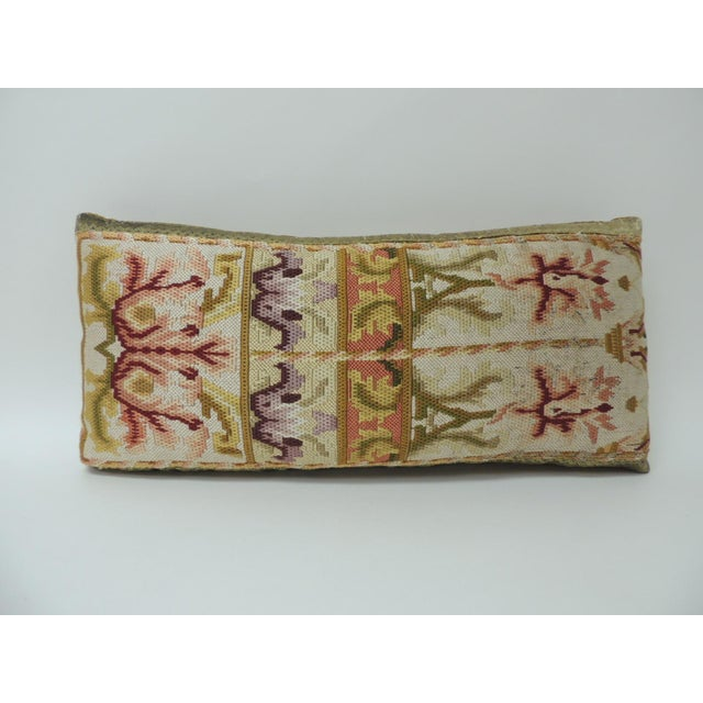Late 18th Century 19th Century Tapestry Decorative Lumbar Pillow For Sale - Image 5 of 5