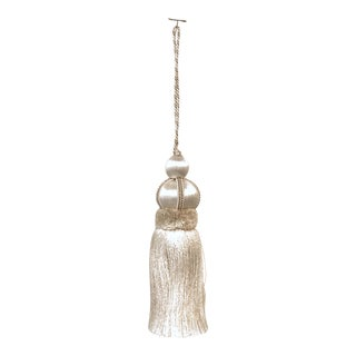 Ivory Key Tassel W Cut Velvet Ruche For Sale