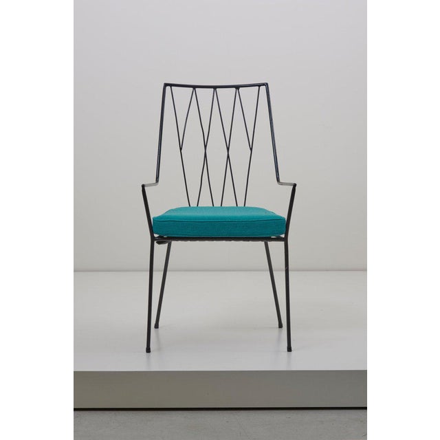 Turquoise Set of Four Paul McCobb Pavilion Collection Chairs for Arbuck, Usa, 1953 For Sale - Image 8 of 13
