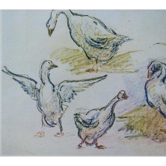 1959 Lithograph of Geese by Alfred Sisley For Sale In Dallas - Image 6 of 11