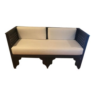 White Moroccan Bench For Sale