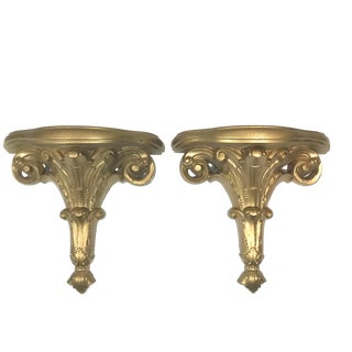 Baroque Style Burwood Wall Brackets - a Pair For Sale