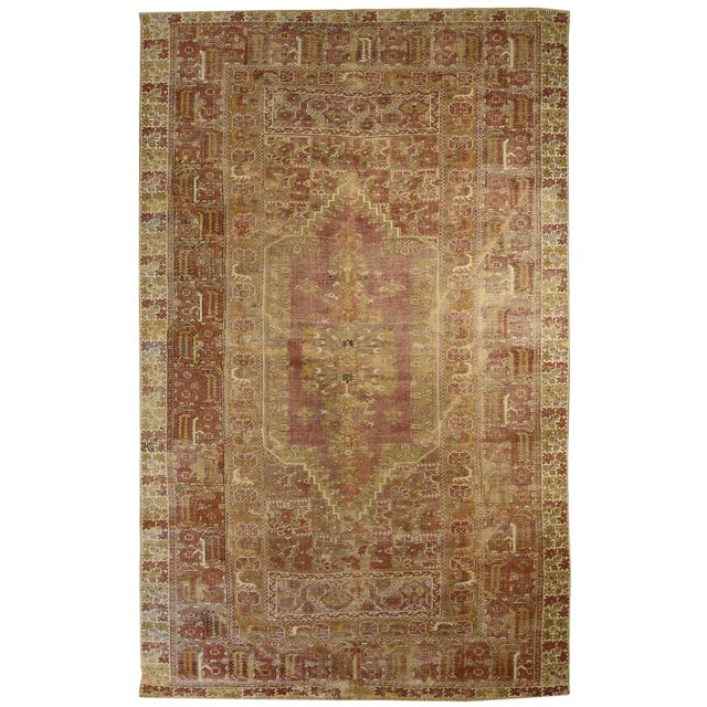Antique Anatolian Ghiordes Rug For Sale