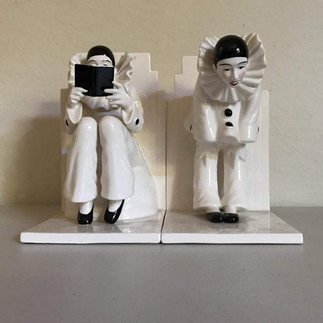 Vintage Tastesetter Ceramic Pierrot Bookends - A Pair - Image 3 of 7