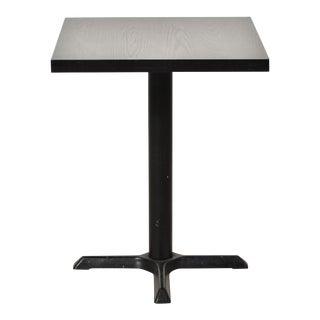 Vintage Black Ebonized Wood Dinette Table For Sale
