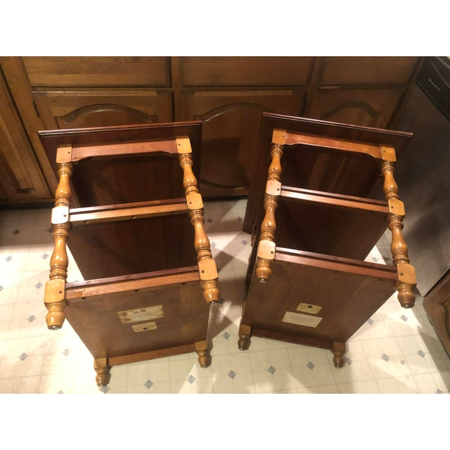 1950s Cherry Stickley End Tables - a Pair For Sale In Philadelphia - Image 6 of 13