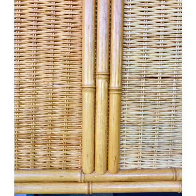 Wood Bamboo/Rattan King Size Headboard For Sale - Image 7 of 8