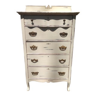 1910s Shabby Chic Tall Dresser For Sale