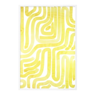 Sunshine Pool by Kate Roebuck in White Framed Paper, Large Art Print For Sale