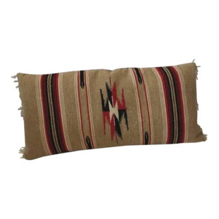 Mexican-American Serape Bolster Pillow For Sale