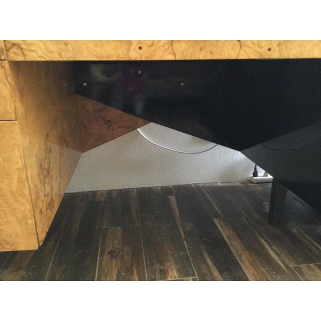 Italian Burl Wood Desk For Sale - Image 5 of 11