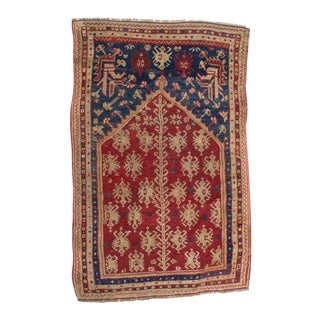 "Antique Anatolian Prayer Rug 5'2"" x 3'3"" For Sale"