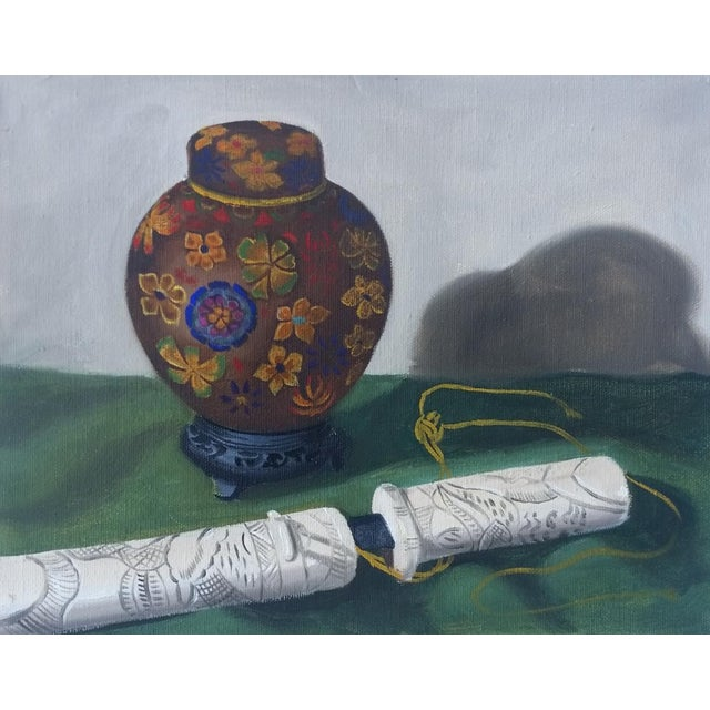 Ginger Jar and Dagger Still Life Painting - Image 1 of 3