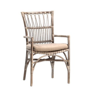 Bamboo & Rattan Dining Chair For Sale