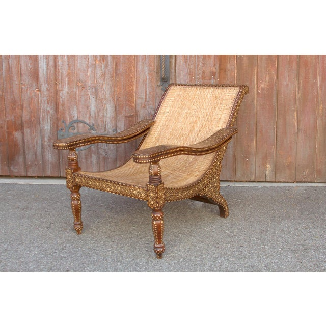 1900 - 1909 Rare Plantation Inlaid Chair For Sale - Image 5 of 8