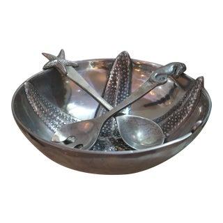 Mariposa Aluminum Bowl with Utensils
