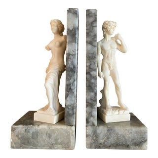 1970s David of Michelangelo Bookends - a Pair For Sale