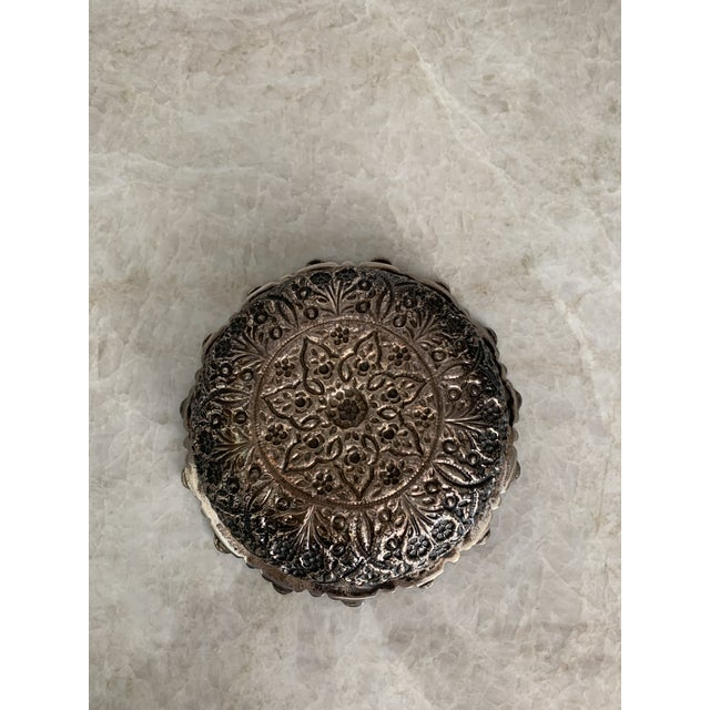 Persian Repousse 900 Silver Bowl For Sale - Image 4 of 7