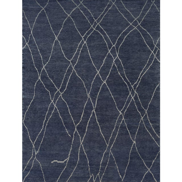 Textile Handwoven Moroccan Inspired Wool Rug For Sale - Image 7 of 7