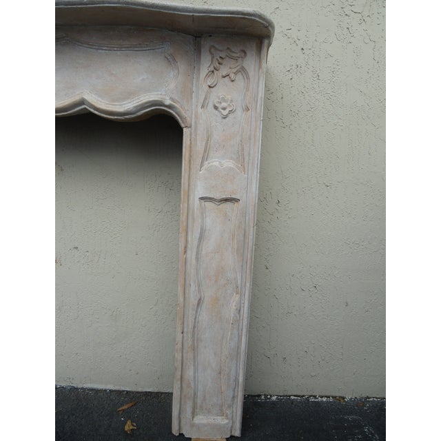Late 19th Century 19th Century French Carved Wood Mantel For Sale - Image 5 of 10