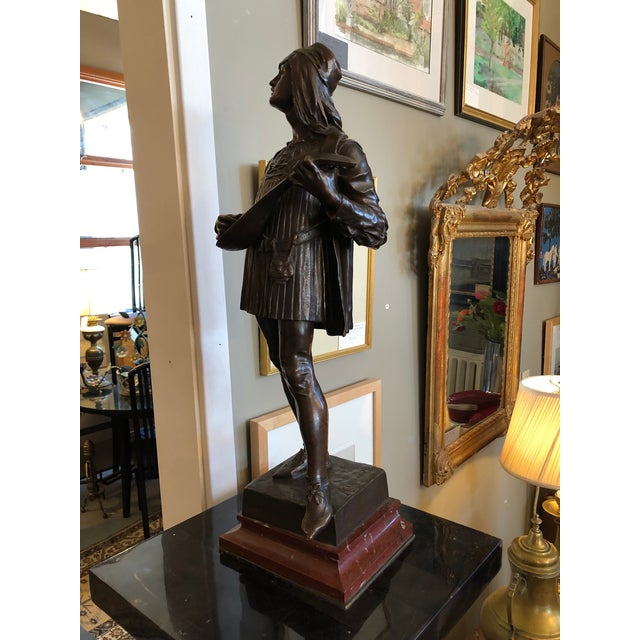 Late 19th Century 1880s Claudius Marioton The Venetian Bronze Table Top Sculpture For Sale - Image 5 of 12