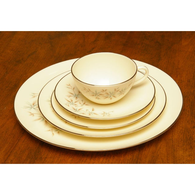 Traditional Mid-century Lenox Wyndcrest China Set For Sale - Image 3 of 5