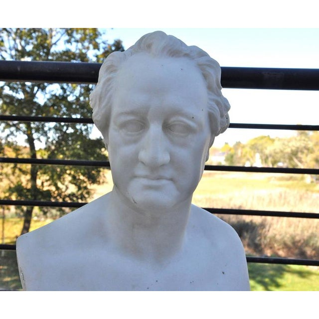 Mid 19th Century Pair of Mid-19th Century Marble Busts of Schiller and Goethe For Sale - Image 5 of 6