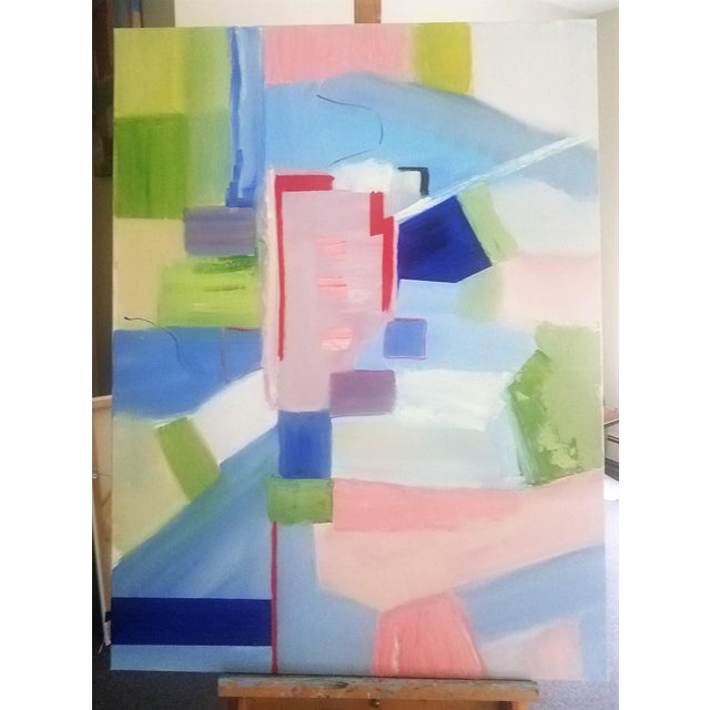 """Abstract Contemporary """"Sloane Square"""" Oil Painting by Christine Frisbee For Sale - Image 10 of 10"""
