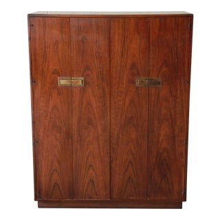 Mid-Century Modern Walnut Armoire by Founders