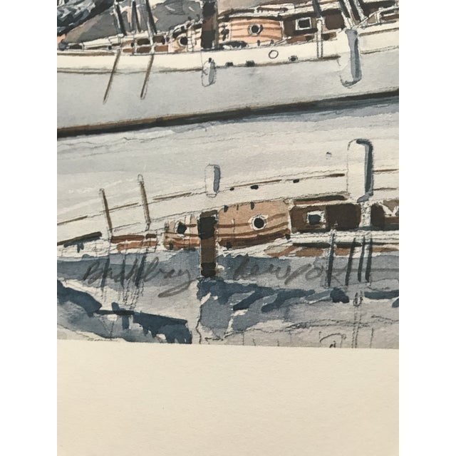 Sailboat Watercolor Print Lithograph - Numbered and Signed For Sale - Image 4 of 8