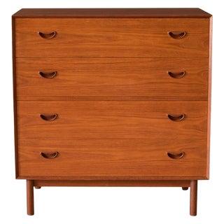 Vintage Solid Teak Vanity Dresser Chest by Peter Hvidt & Orla Mølgaard-Nielsen For Sale