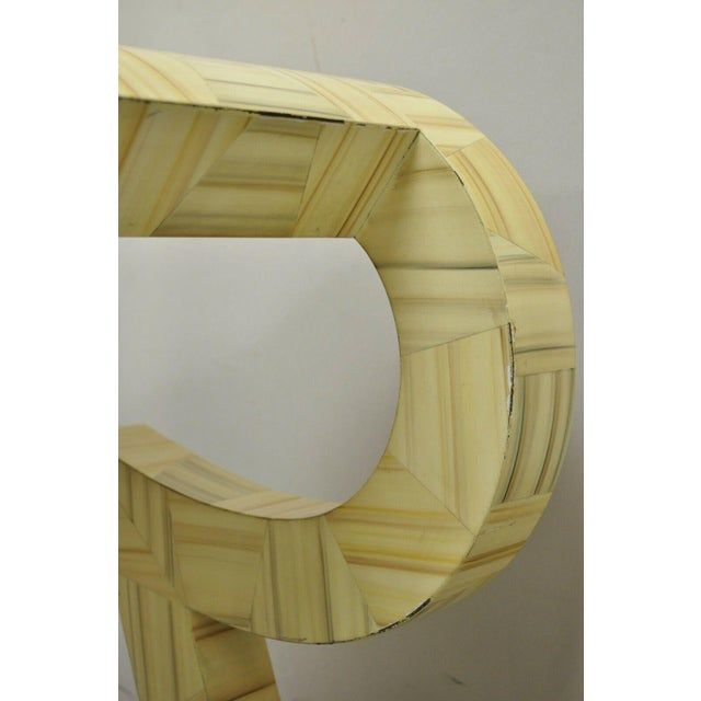 Allesandro Baker Karl Springer Style Cream Console Table For Sale - Image 10 of 13