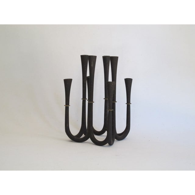 Danish Modern Metal Candelabra - Image 4 of 8