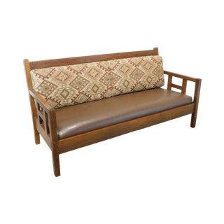 Stickley Brothers Antique Mission Oak Settle Sofa For Sale