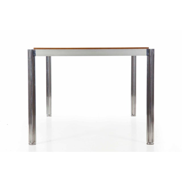 Rare Circa 1960s Jens Risom Oak and Aluminum Dining Table with Shamrock Legs For Sale - Image 5 of 13