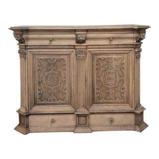 19th Century Renaissance Stripped Oak Cabinet - Buffet For Sale