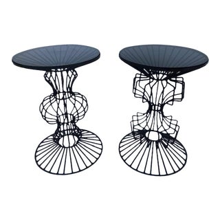 1960s Brutalist Side Tables by John Risley - a Pair For Sale
