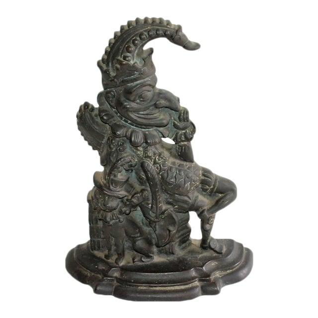 """Late 19th Century Bronze """"Punch"""" Door Stop For Sale"""