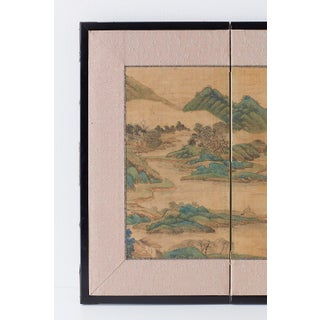 Japanese Miniature Four-Panel Screen Blue and Green Landscape Preview