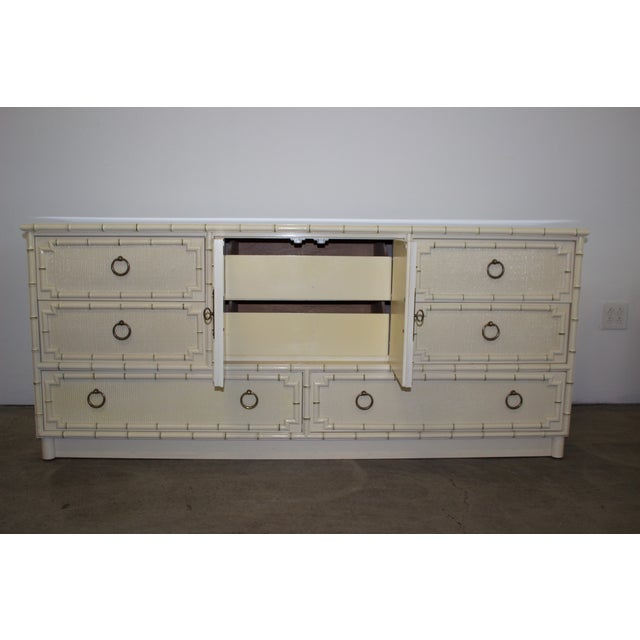 Hickory Mid-Century Faux-Bamboo Dresser - Image 9 of 9